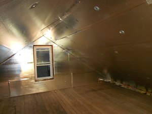 A Des Moines attic with SuperAttic installed.
