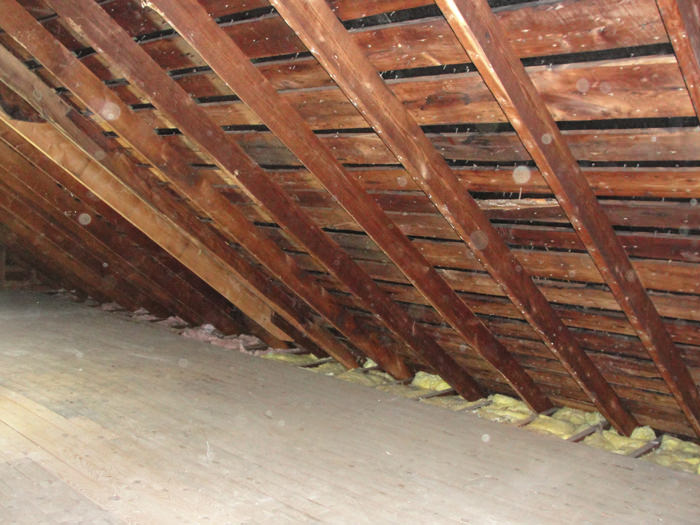 A Iowa Attic Before Installation Of SuperAttic